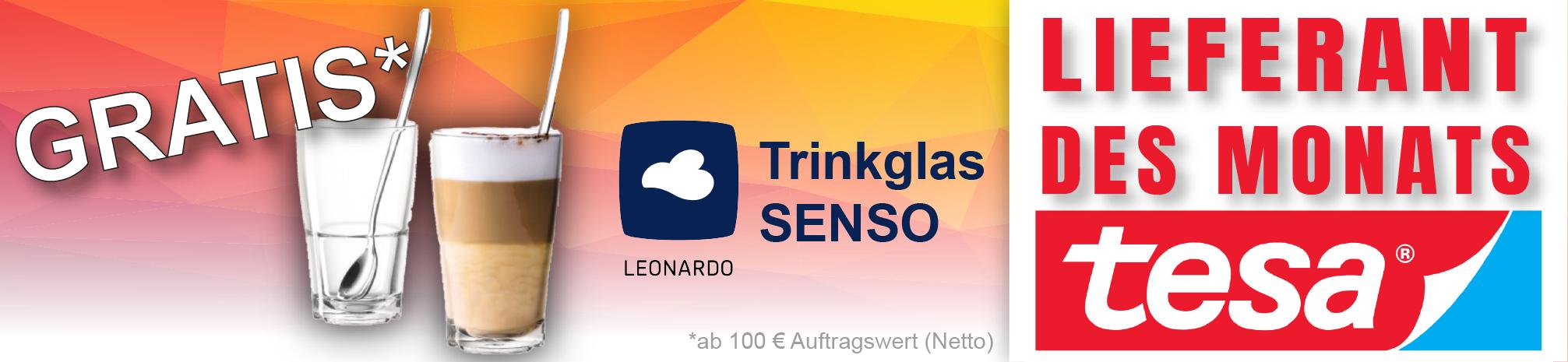 tesa - GRATIS Trinkglas